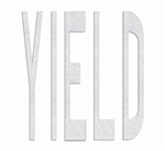 PR-TH-3628 - Preformed Thermoplastic Legend - 'YIELD - 8' x 90 MIL White - (Qty 1)