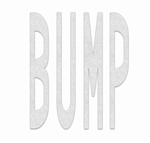 PR-TH-3630 - Preformed Thermoplastic Legend - 'BUMP' - 8' x 125 MIL White - (Qty 1)