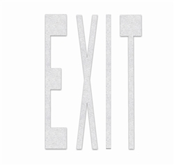 PR-TH-3632 - Preformed Thermoplastic Legend - 'EXIT' - 8' x 125 MIL White - (Qty 1)