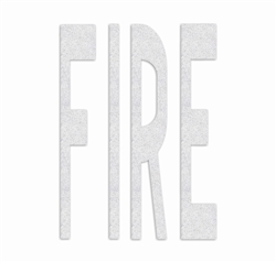 PR-TH-3633 - Preformed Thermoplastic Legend - 'FIRE' - 8' x 125 MIL White - (Qty 1)
