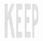 PR-TH-3634 - Preformed Thermoplastic Legend - 'KEEP' - 8' x 125 MIL White - (Qty 1)