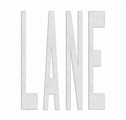 PR-TH-3635 - Preformed Thermoplastic Legend - 'LANE' - 8' x 125 MIL White - (Qty 1)
