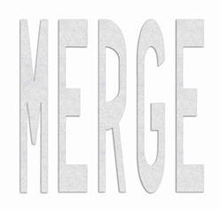 PR-TH-3637 - Preformed Thermoplastic Legend - 'MERGE - 8' x 125 MIL White - (Qty 1)