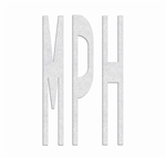 PR-TH-3638 - Preformed Thermoplastic Legend - 'MPH - 8' x 125 MIL White - (Qty 1)