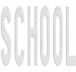 PR-TH-3645 - Preformed Thermoplastic Legend - 'SCHOOL' - 8' x 125 MIL White - (Qty 1)
