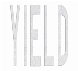 PR-TH-3653 - Preformed Thermoplastic Legend - 'YIELD - 8' x 125 MIL White - (Qty 1)