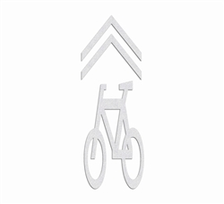 "PR-TH-3792 - Preformed Thermoplastic Bicycle Shared Lane Symbol 9'4"" x 3'4"" - 125 MIL White (Qty 2)"