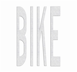 "PR-TH-3795 - Preformed Thermoplastic ""BIKE"" Legend 4' x 2'6"" - 125 MIL White (Qty 4)"