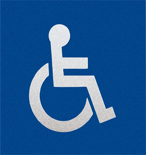 Preformed Thermoplastic Handicap Symbol 40 X 40 90 Mil Pr Th