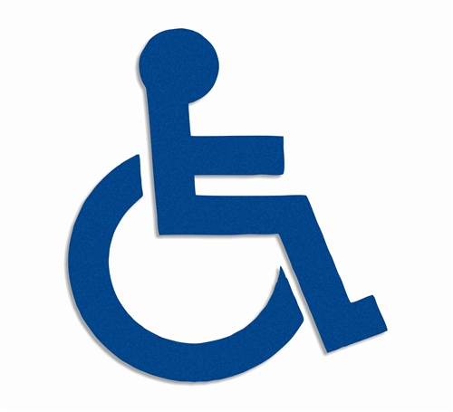 Preformed thermoplastic handicap symbol 28 x 24 90 Handicapped wheelchair