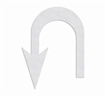 "PR-TH-3869 - Preformed Thermoplastic U-Turn Arrow Left Symbol - 10' x 7'6"" - 125 MIL White - (Qty 1)"