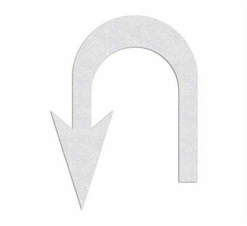 Preformed Thermoplastic U Turn Left Arrow Symbol 10 X 76 90