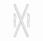 PR-TH-3889 - Preformed Thermoplastic Legend - 'RxR' Kit Narrow - 90 MIL White - (Qty 1)