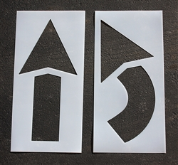 "Pavement Marking Stencils - Arrow Kit  42"" - 2pc. Maxi-last 1/8"" - STL-108-4042"