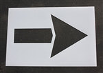 "Pavement Marking Stencils - Straight Arrow  60"" - Maxi-last 1/8"" - STL-108-4060"