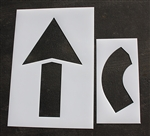 "Pavement Marking Stencil -  Arrow Kit  60"", 2pc.  - Maxi-last 1/8"" - STL-108-4068"