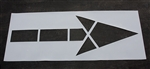 "Pavement Marking Stencils - Maxi - MUTCD Straight Arrow - 1/8"" - STL-108-5000"