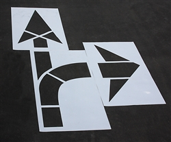 "Pavement Marking Stencils - Maxi - MUTCD Combo Arrow - 1/8"" - STL-108-5015"