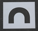 "Pavement Marking Stencils - Maxi - 4 inch - End Loop - 1/8"" - STL-108-5070"