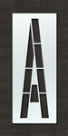 "Pavement Marking Stencils - Maxi - 120 inch - Airport FAA Letter A 1/8"" - STL-108-F120A"