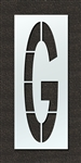 "Pavement Marking Stencils - Maxi - 144 inch - Airport FAA Letter G 1/8"" - STL-108-F144G"