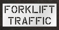 "Pavement Marking Stencils - Duro - 12 inch - Forklift Traffic - 1/16"" - STL-116-11202"