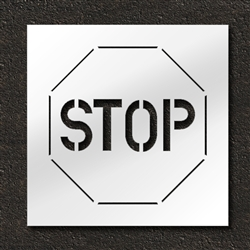 "Pavement Marking Stencils - Duro - 24 inch - Stop Sign - 1/16"" - STL-116-12401"