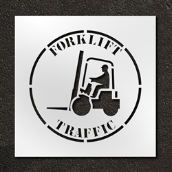 "Pavement Marking Stencils - Duro - 24 inch - Forklift Traffic - 1/16"" - STL-116-12402"