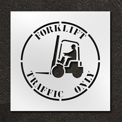 "Pavement Marking Stencils - Duro - 24 inch - Forklift Traffic Only- 1/16"" - STL-116-12412"