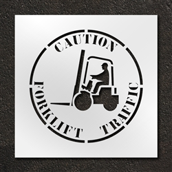 "Pavement Marking Stencils - Duro - 24 inch - Caution Forklift Traffic - 1/16"" - STL-116-12415"