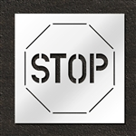 "Pavement Marking Stencils - Duro - 30 inch - Stop Sign - 1/16"" - STL-116-13001"