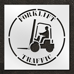"Pavement Marking Stencils - Duro - 42 inch - Forklift Traffic - 1/16"" - STL-116-14802"