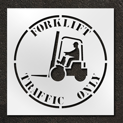"Pavement Marking Stencils - Duro - 42 inch - Forklift Traffic Only - 1/16"" - STL-116-14812"