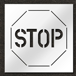 "Pavement Marking Stencils - Duro - 60 inch - Stop Sign - 1/16"" - STL-116-16001"