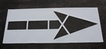 "Pavement Marking Stencils - Duro - MUTCD Straight Arrow - 1/16"" - STL-116-5000"