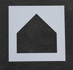 "Pavement Marking Stencils - Duro - 17 inch - Baseball Home Plate - 1/16"" - STL-116-6495"