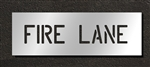 "Pavement Marking Stencils - Duro - 4 inch - FIRE LANE - 1/16"" - STL-116-70431"