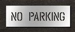 "Pavement Marking Stencils - Duro - 4 inch - NO PARKING - 1/16"" - STL-116-70432"