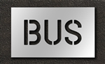 "Pavement Marking Stencils - Duro - 6 inch - BUS - 1/16"" - STL-116-70615"