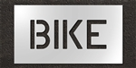 "Pavement Marking Stencils - Duro - 6 inch - BIKE - 1/16"" - STL-116-70617"