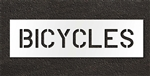 "Pavement Marking Stencils - Duro - 6 inch - BICYCLES - 1/16"" - STL-116-70618"