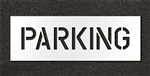 "Pavement Marking Stencils - Duro - 6 inch - PARKING - 1/16"" - STL-116-70622"