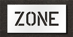 "Pavement Marking Stencils - Duro - 6 inch - ZONE - 1/16"" - STL-116-70624"