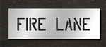 "Pavement Marking Stencils - Duro - 6 inch - FIRE LANE - 1/16"" - STL-116-70631"
