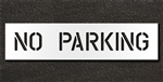 "Pavement Marking Stencils - Duro - 6 inch - NO PARKING - 1/16"" - STL-116-70632"