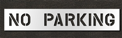 "Pavement Marking Stencils - Duro - 8 inch - NO PARKING - 1/16"" - STL-116-70832"