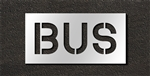 "Pavement Marking Stencils - Duro - 10 inch - BUS - 1/16"" - STL-116-71015"