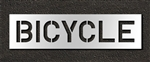 "Pavement Marking Stencils - Duro - 10 inch - BICYCLES - 1/16"" - STL-116-71018"