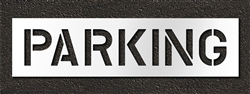 "Pavement Marking Stencils - Duro - 10 inch - PARKING - 1/16"" - STL-116-71022"