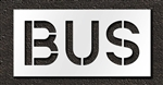 "Pavement Marking Stencils - Duro - 12 inch - BUS - 1/16"" - STL-116-71215"